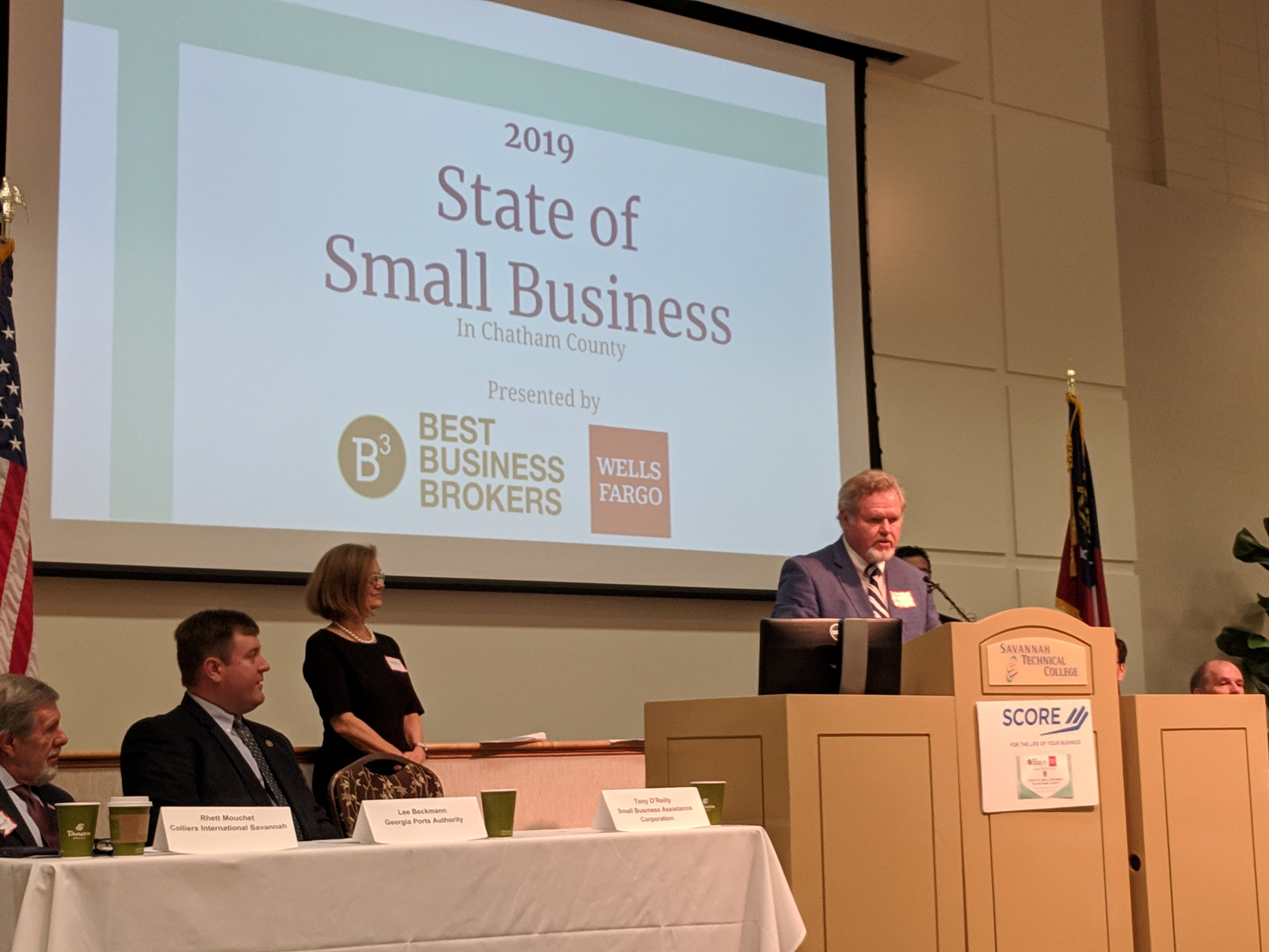 Tony O'Reilly presenting at 2019 State of Small Business in Savannah