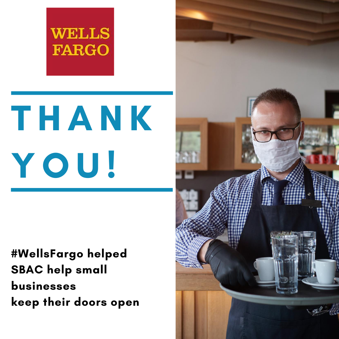 SBAC Receives a $7,500 Grant from Wells Fargo Community Foundation for COVID-19 Relief Efforts